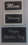 Mother's Day word mix stencils for glitter tattoos including  mom & mommy